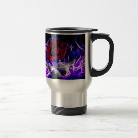 Violet flame rose and Gods hand Travel Mug