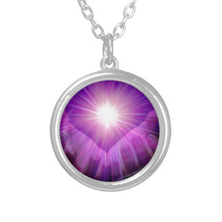 violet flame silver plated necklace