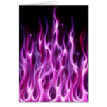 Violet Flames Greeting Card