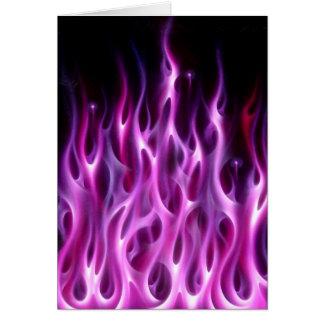 Violet Flames Greeting Card