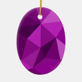 Violet flat wrapping surface pattern christmas tree ornaments