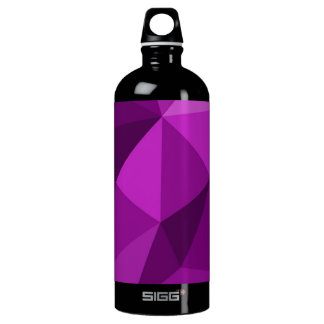 Violet flat wrapping surface pattern water bottle