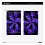 Violet Floral Abstract.jpg Decal For Kindle Fire