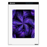 Violet Floral Abstract.jpg Decals For iPad