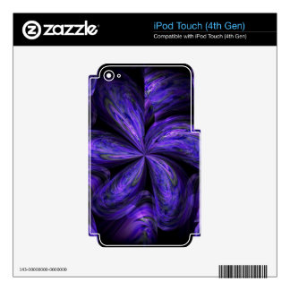 Violet Floral Abstract.jpg Decals For iPod Touch 4G