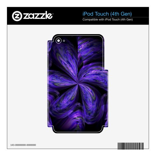 Violet Floral Abstract.jpg iPod Touch 4G Decals