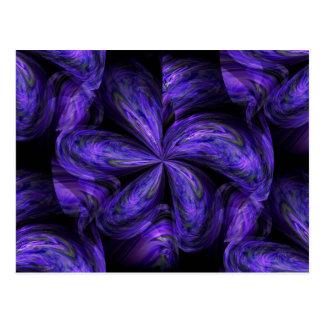 Violet Floral Abstract.jpg Postcard