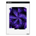 Violet Floral Abstract.jpg Skin For iPad 2