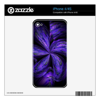 Violet Floral Abstract.jpg Skin For The iPhone 4S