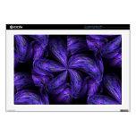 """Violet Floral Abstract.jpg Skins For 17"""" Laptops"""