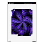 Violet Floral Abstract.jpg Skins For iPad 3