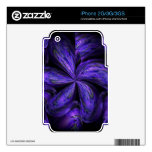 Violet Floral Abstract.jpg Skins For iPhone 2G