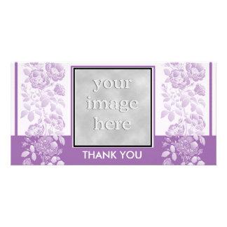 Violet Floral and Elegant  Thank You Card