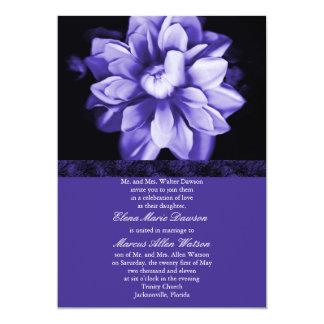 Violet Floral Bloom Wedding Invitation