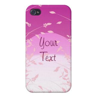 Violet Floral iPhone Case 4 iPhone 4 Case