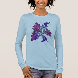 Violet Floral Long-Sleeve Tee