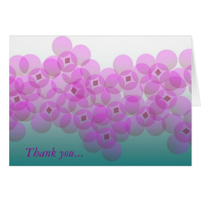 Violet Floral Thank You Card