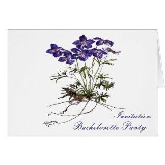 VIOLET Flower botanical Bachelorete  invitation Card