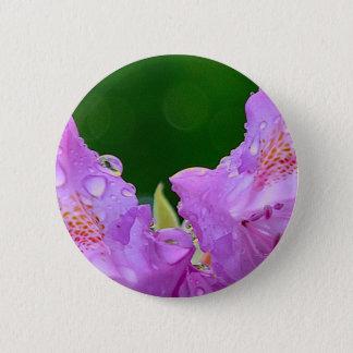 Violet Flower Button