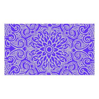 Violet Flower Motif Business Card