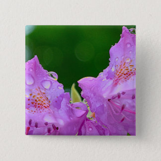 Violet Flower Pinback Button