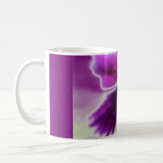 Violet Flower, Purple White Coffee Mug