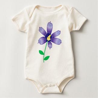 Violet flower romper