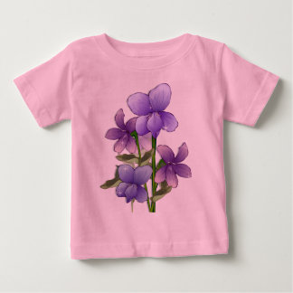 Violet flowers art print shirt
