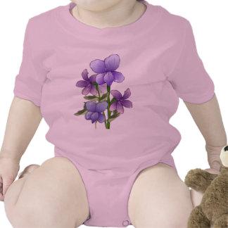 Violet flowers art print t-shirt