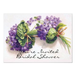 Violet Flowers Bridal Shower Card