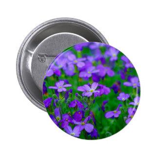 Violet Flowers Button