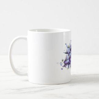Violet Flowers Classic White Coffee Mug