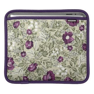 Violet flowers design iPad sleeves