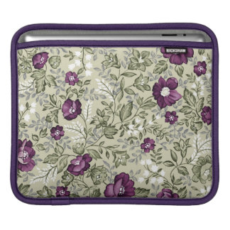 Violet flowers design sleeve for iPads