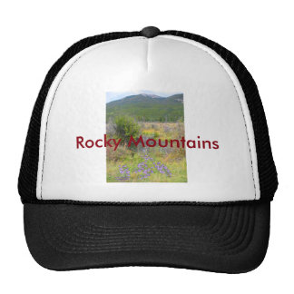 Violet Flowers in a Wyoming Rocky Mountain Park Trucker Hat