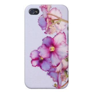 (Violet Flowers) iPhone 4 Matte Finish Case 4/4S iPhone 4 Cases