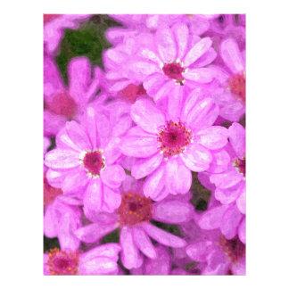 Violet flowers letterhead