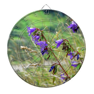 Violet flowers on the meadow in the wind dart boards