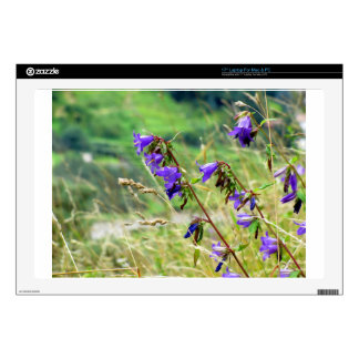 """Violet flowers on the meadow in the wind skins for 17"""" laptops"""