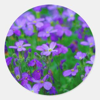 Violet Flowers Sticker