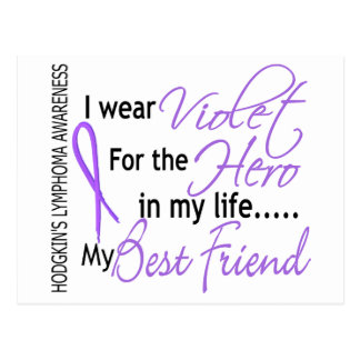 Violet For Hero 1 Hodgkins Lymphoma Best Friend Postcard