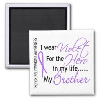 Violet For Hero 1 Hodgkins Lymphoma Brother 2 Inch Square Magnet