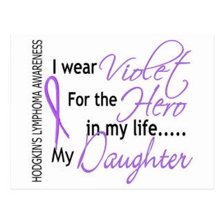 Violet For Hero 1 Hodgkins Lymphoma Daughter Postcard
