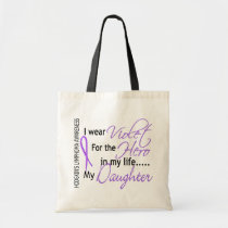 Violet For Hero 1 Hodgkins Lymphoma Daughter Tote Bag