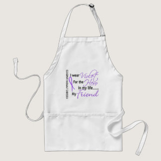 Violet For Hero 1 Hodgkin's Lymphoma Friend Adult Apron
