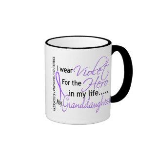 Violet For Hero 1 Hodgkin's Lymphoma Granddaughter Ringer Coffee Mug