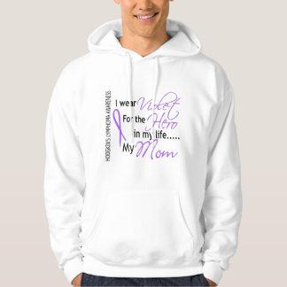 Violet For Hero 1 Hodgkin's Lymphoma Mom Hooded Pullover