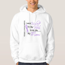 Violet For Hero 1 Hodgkin's Lymphoma Mom Hoodie