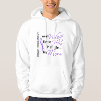 Violet For Hero 1 Hodgkin's Lymphoma Mom Hoodie