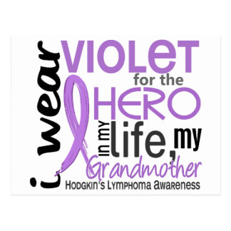 Violet For Hero 2 Grandmother Hodgkin's Lymphoma Postcard